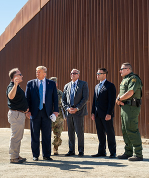 President Trump at the border.