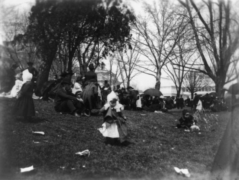 White House Easter Egg Roll, 1889.