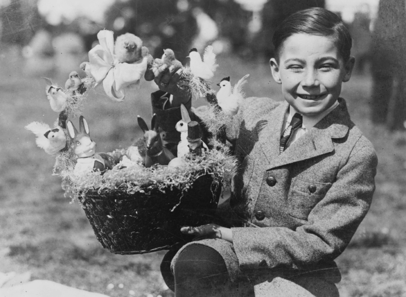 1923 photo of a boy at the White House Easter Egg Roll