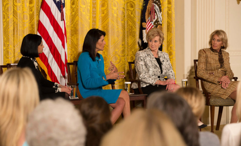 Ambassador Nikki Haley speaks on Women's Empowerment Panel.