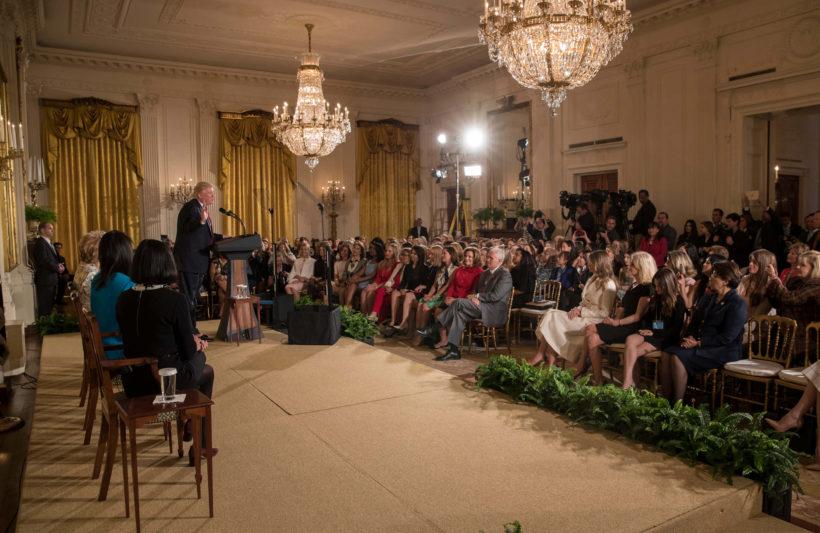 President Trump speaks at Women's Empowerment Panel.