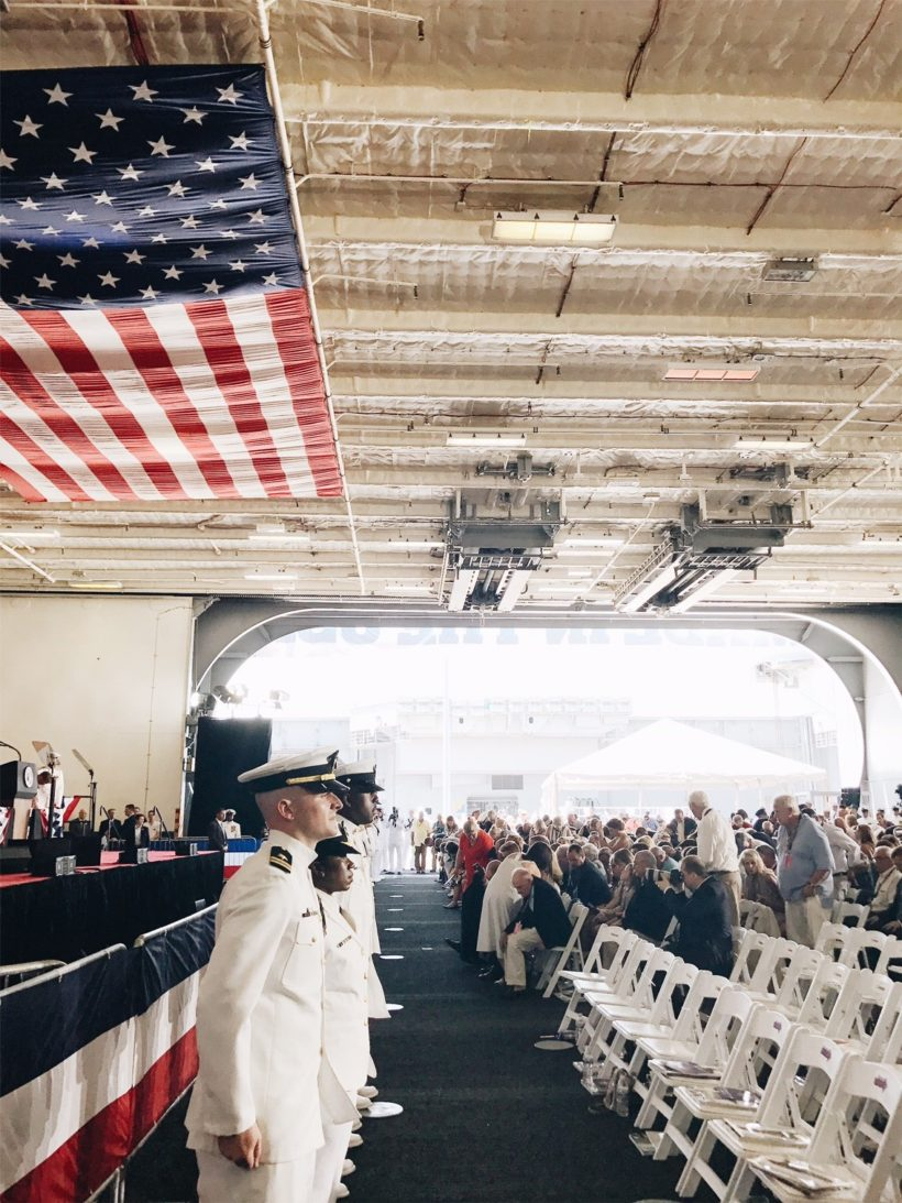 President Trump Participates in the Commissioning Ceremony of the USS Gerald R. Ford