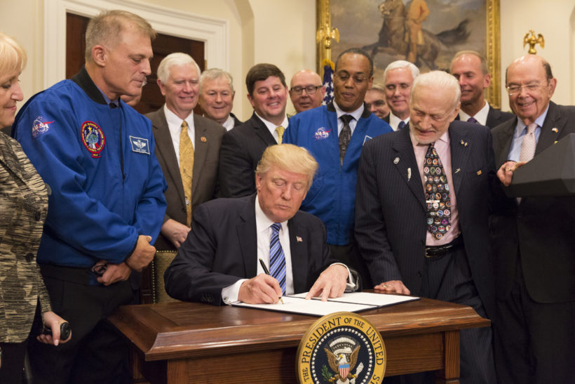 President Trump Issues Executive Order on Reviving the National Space Council