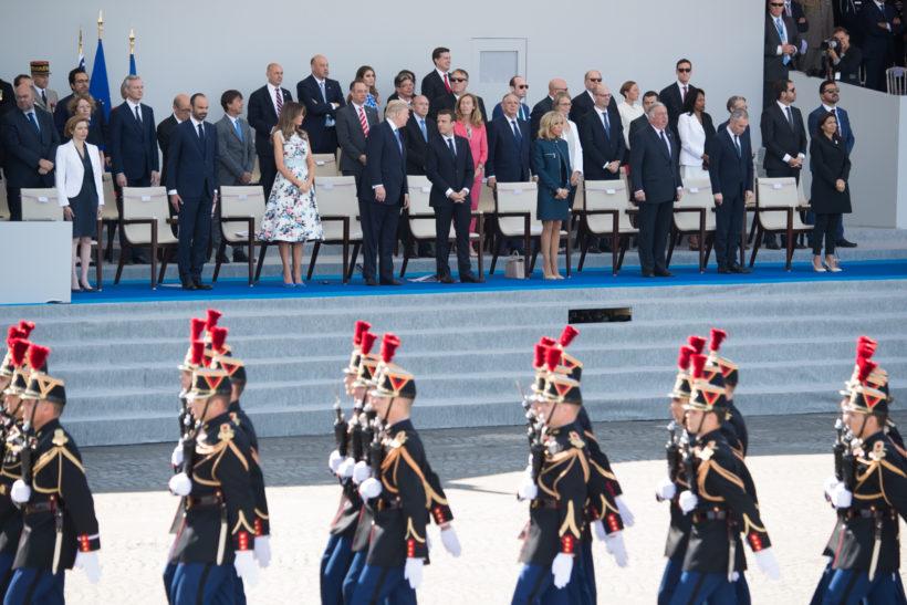 President Trump's second day in Paris