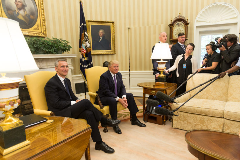 President Trump and Secretary General Stoltenberg
