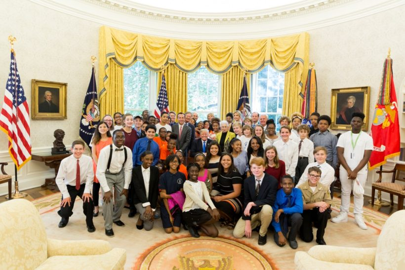 STEM children in Oval Office