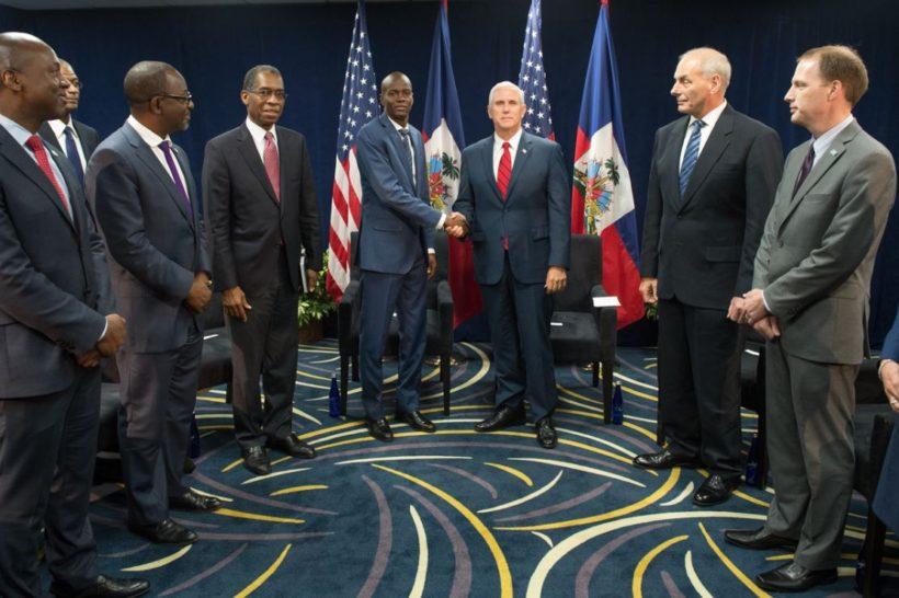 Vice President Pence with President Jovenel Moise of Haiti
