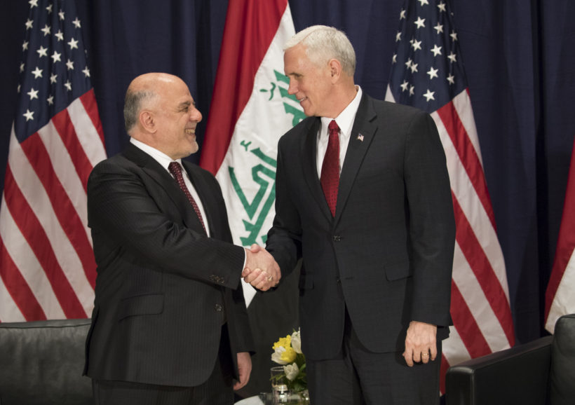Vice President Pence with Prime Minister Abadi of Iraq