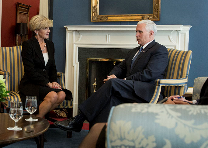 VP meeting with Australian Foreign Minister