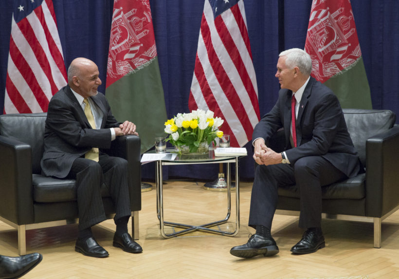 Vice President Pence with President Ashraf Ghani of the Islamic Republic of Afghanistan