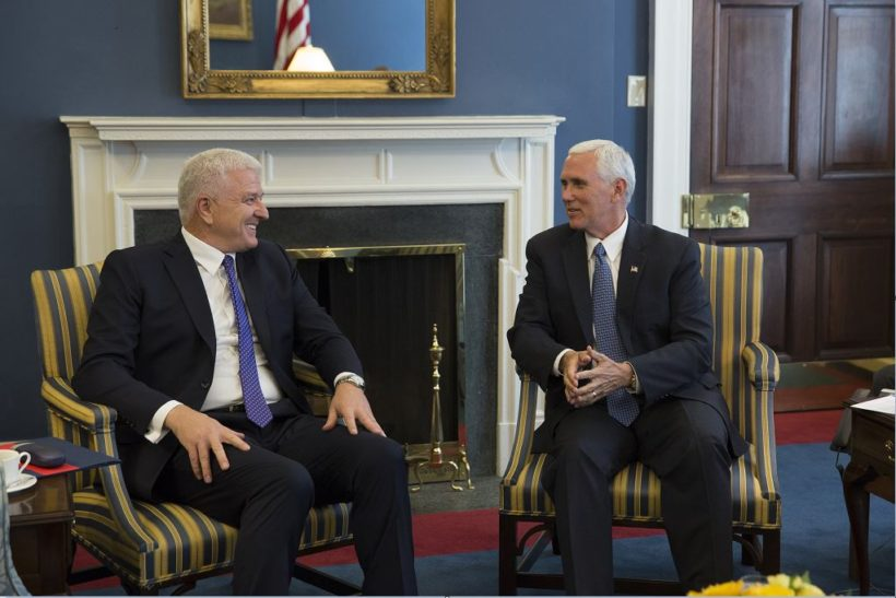 Vice President Mike Pence meets with the Prime Minister of Montenegro