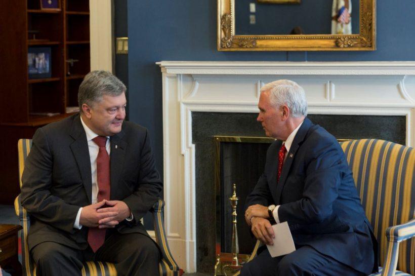 Vice President Pence with Ukrainian President Petro Poroshenko