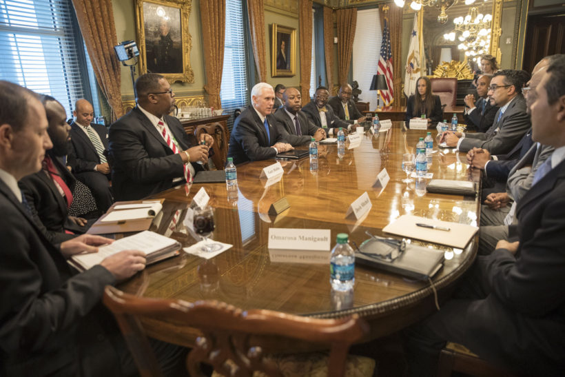 Vice President Pence hosted an African American economic opportunity listening session.