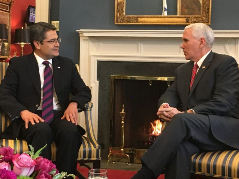 VP meets with President Hernandez of Honduras