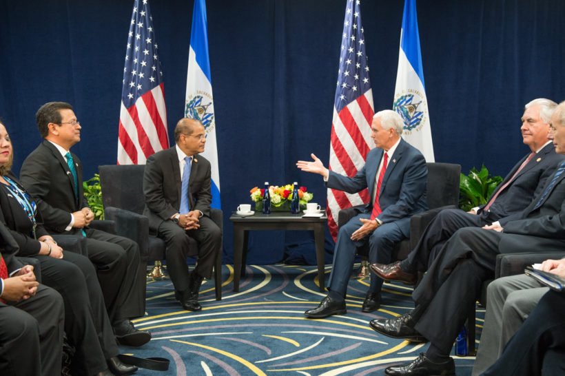 Vice President Pence with Vice President of El Salvador Oscar Ortiz