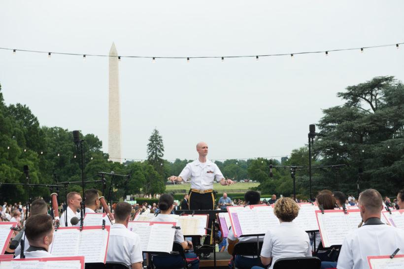 Band plays at Congressional Picnic
