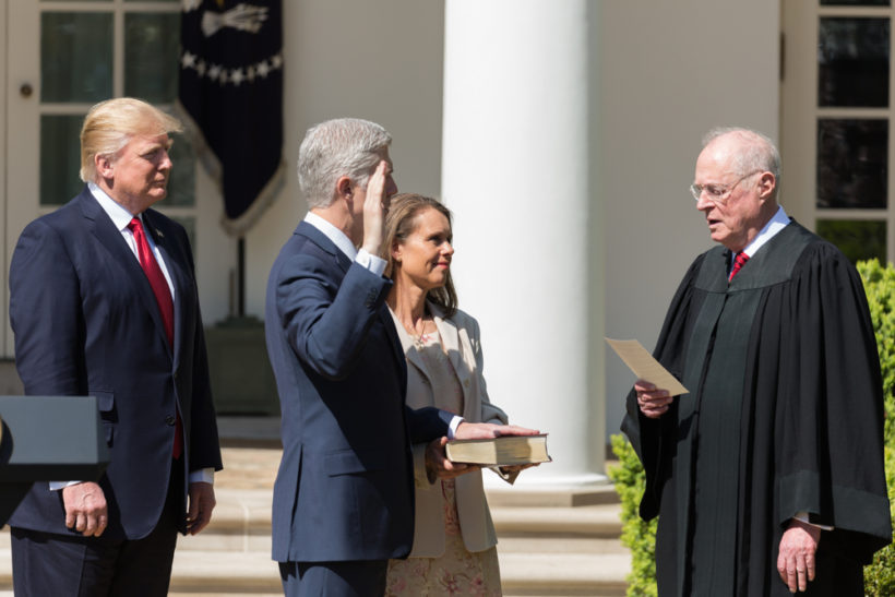 Swearing-in of Justice Neil Gorsuch