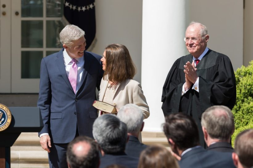 Justice Neil Gorsuch after swearing-in ceremony