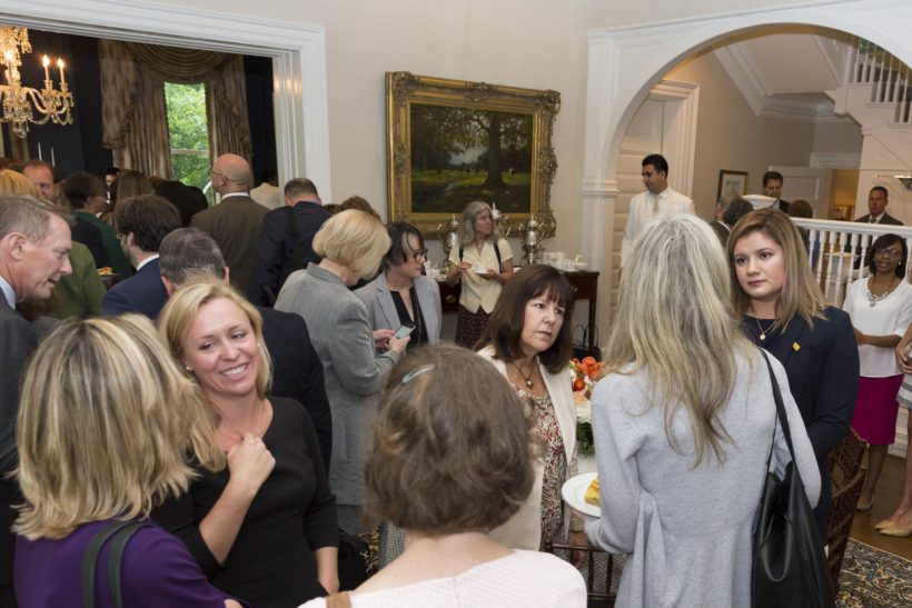 Mrs. Karen Pence hosts the Creative Forces Breakfast at the Vice President's Residence, Monday, September 18, 2017, in Washington, D.C. (Official White House Photo by Stephanie Chasez)