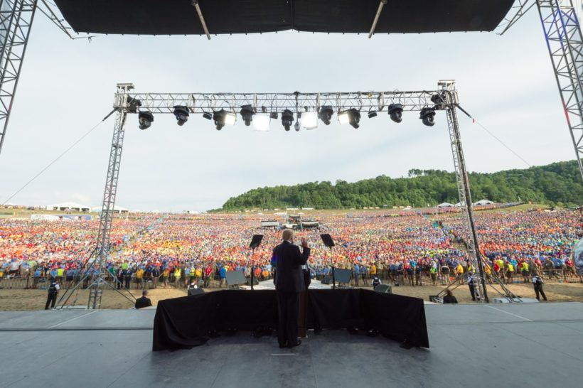 President Donald J. Trump addressed the Boy Scouts of America at the National Jamboree