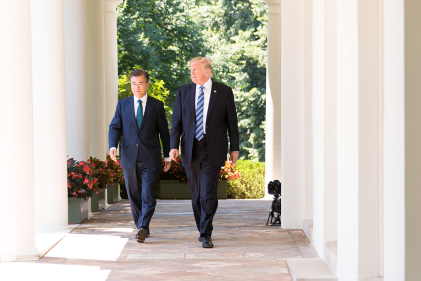 President Donald J. Trump and President Moon Jae-in of the Republic of Korea