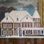 Gingerbread house designed as a replica of the Vice President's Residence.