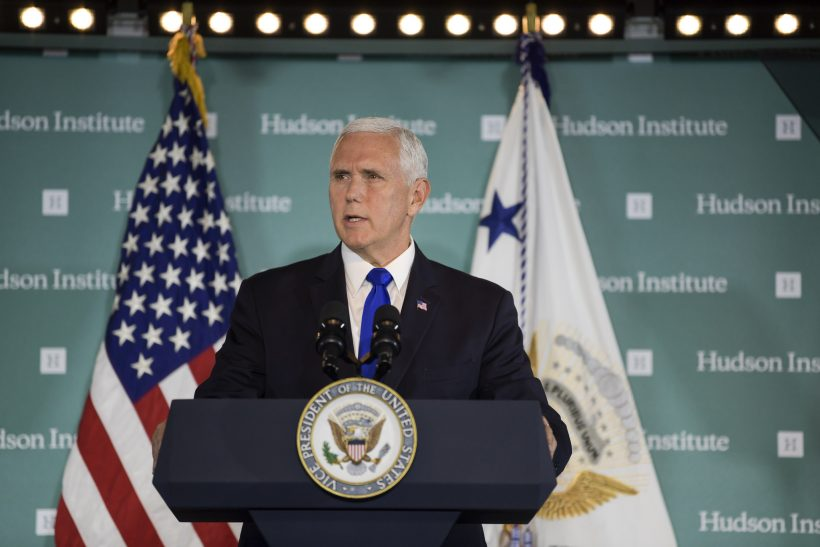 Vice President Pence speaking at the Hudson Institute