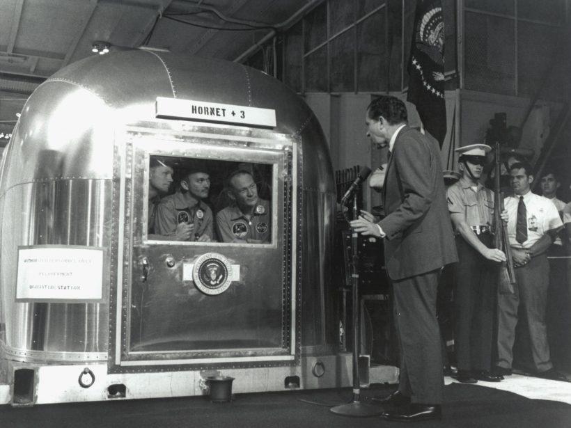 President Richard Nixon with Apollo 11 Crew