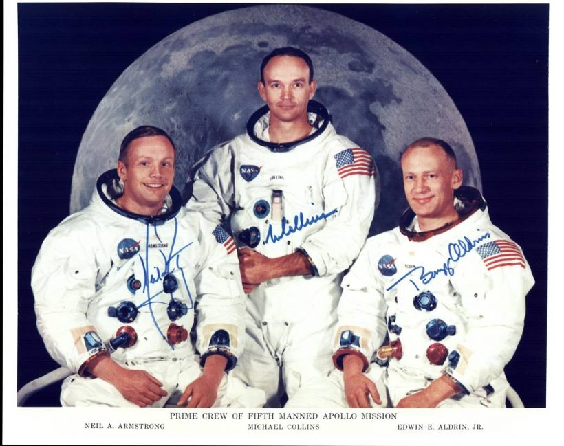 Official crew photo of the Apollo 11 Prime Crew